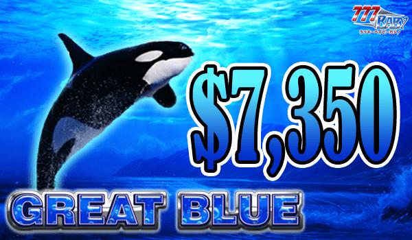大人気のGreat Blue (グレート ブルー) で7,350ドル