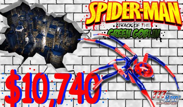 Spider-man (スパイダーマン)で、一撃!10,740ドル